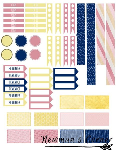 Freebie Friday sticker layout