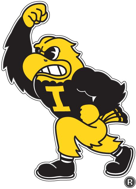 Iowa Hawkeyes Mascot Logo (2002) - Iowa Hawkeyes mascot - Herky the Hawk