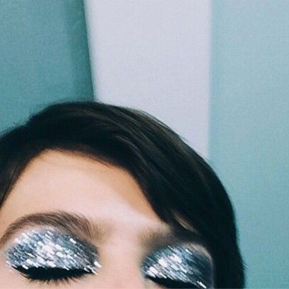 Still obsessed with glitter, especially these heavy 80s lids