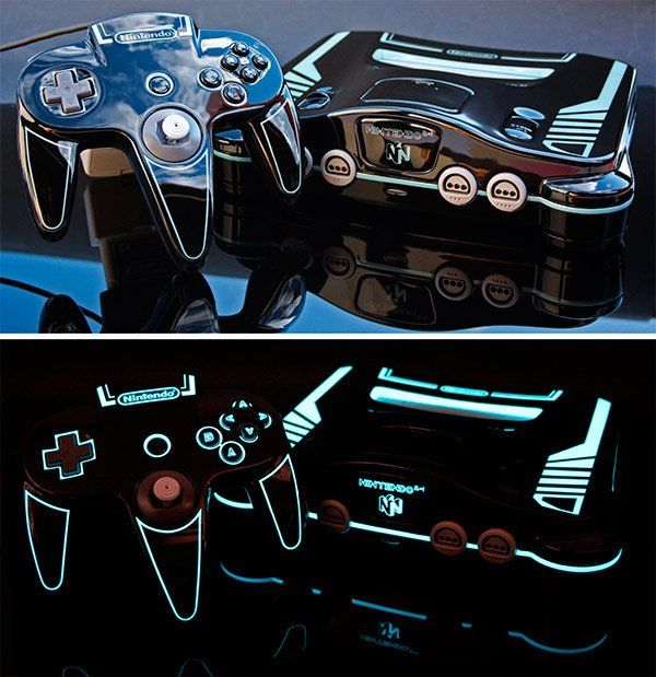 Nintendo 64 Version Customisée #Tron #Geek #N64