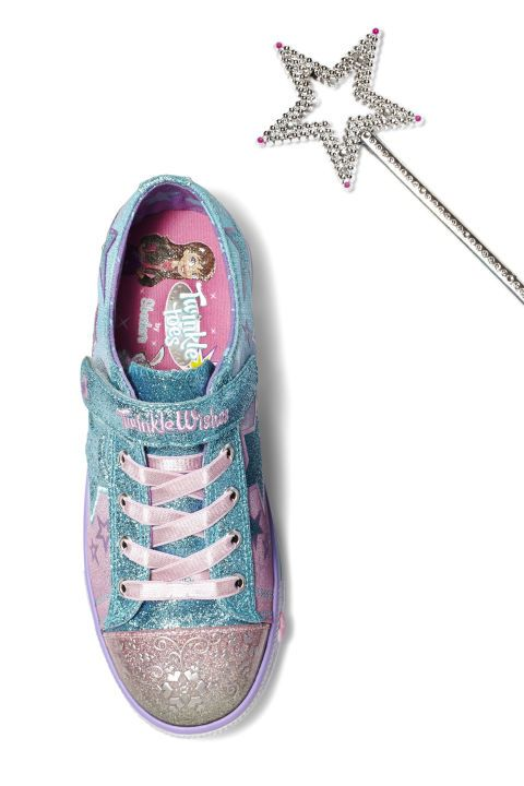 GIFTS FOR KIDS - Glittery shoes she can wear everywhere. Sneakers, $49 (includes $8 discount using code WISHES); skechers.com. Get more kid Christmas gift ideas at redbookmag.com.