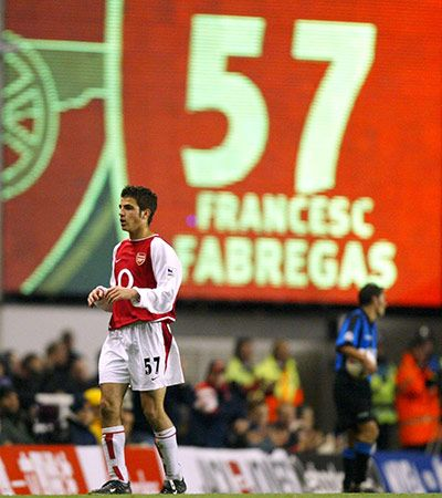 Cesc at 16 first team with Arsenal