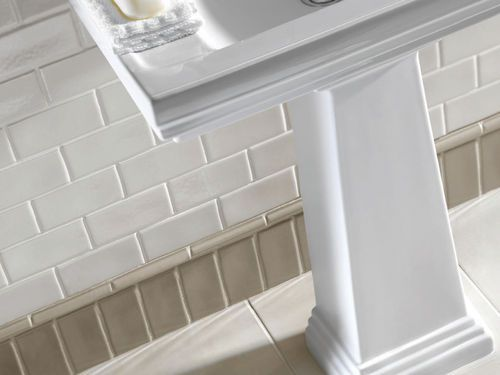 Indoor tile / for bathrooms / wall-mounted / ceramic ANTIQUE Grey Ecru+border/White Linen+ dado IMPERIAL BATHROOMS