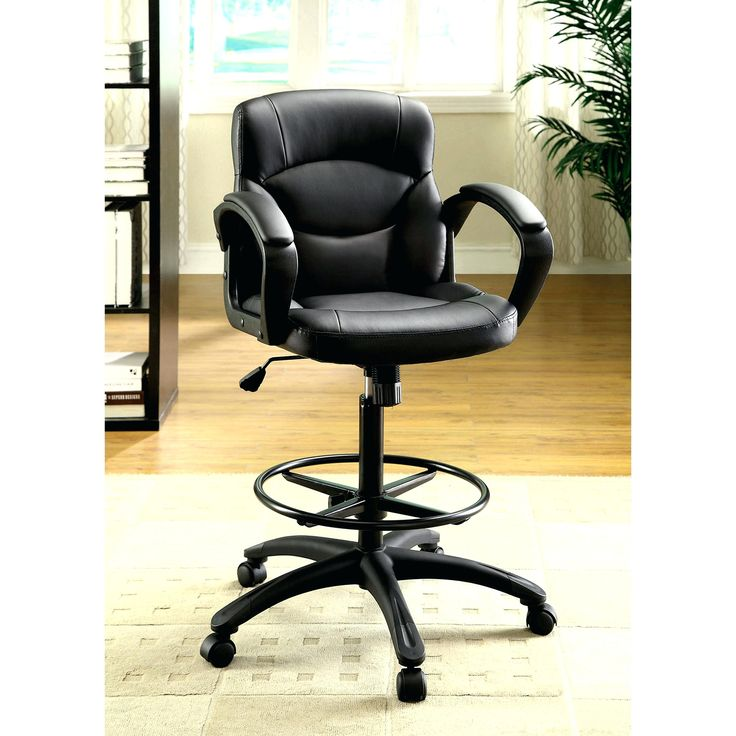 Comfortable counter height office chair