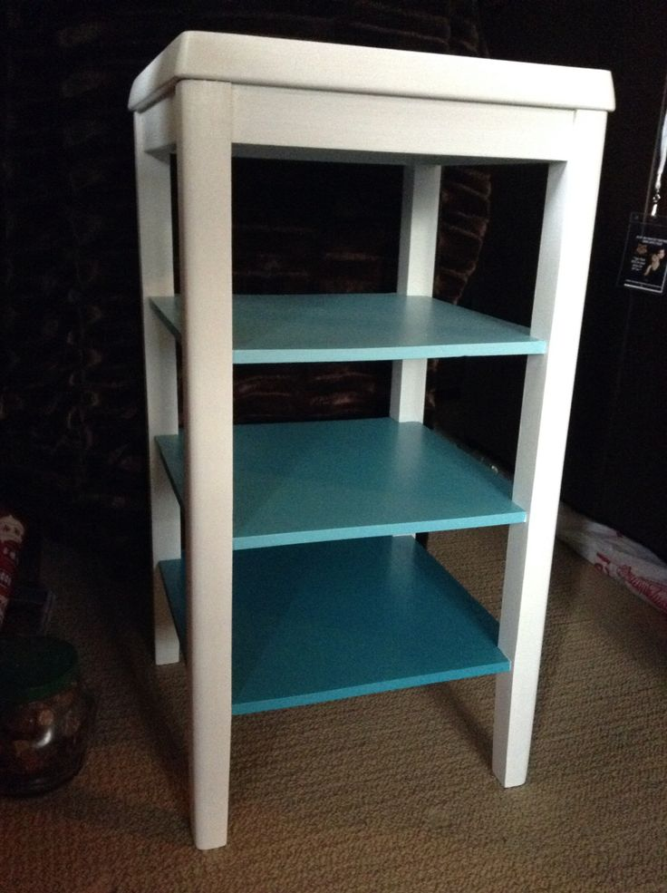 Worn out mid century modern side table brought back to like with paint