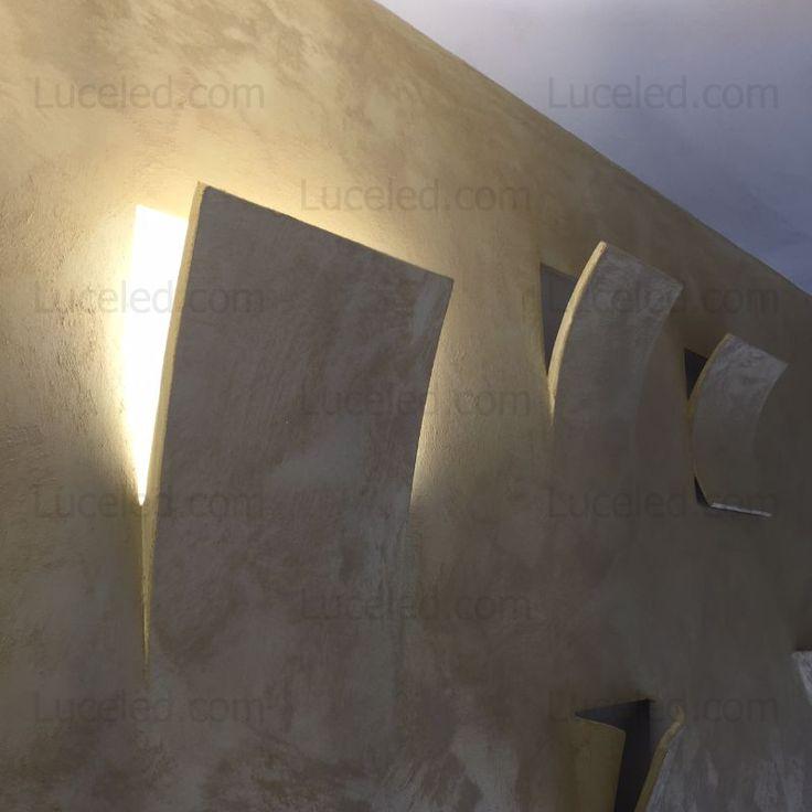Oltre 25 fantastiche idee su illuminazione a parete su - Applique in gesso da parete ...