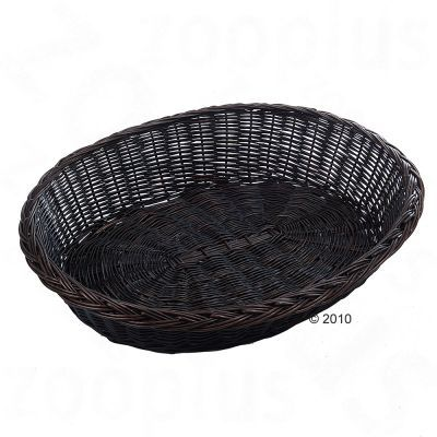 Wicker Dog Basket Dark Brown - approx. 110 x 92 x 30 cm (L x W x H)