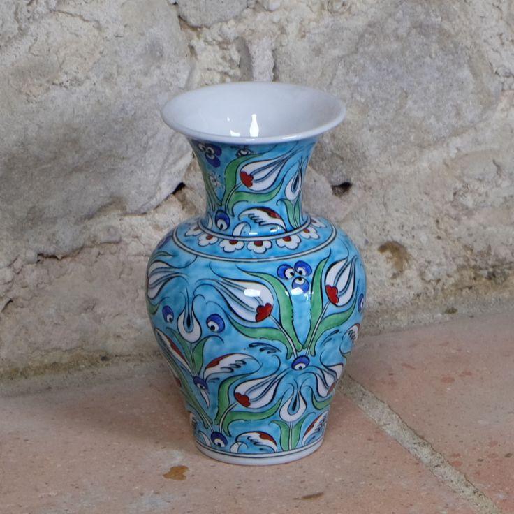 #Vase #turquoise en céramique #déco