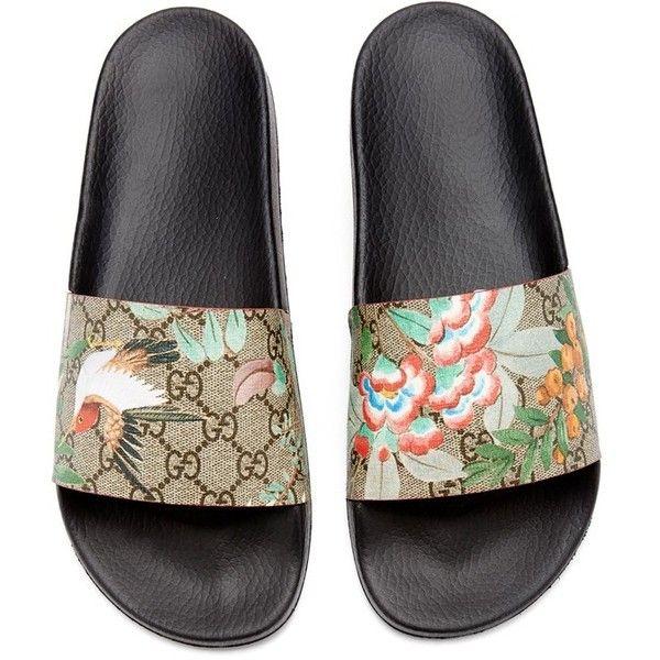 gucci 72 pursuit slides. men\u0027s gucci \u0027pursuit \u002772 slide\u0027 sandal ($190) ❤ liked on polyvore 72 pursuit slides