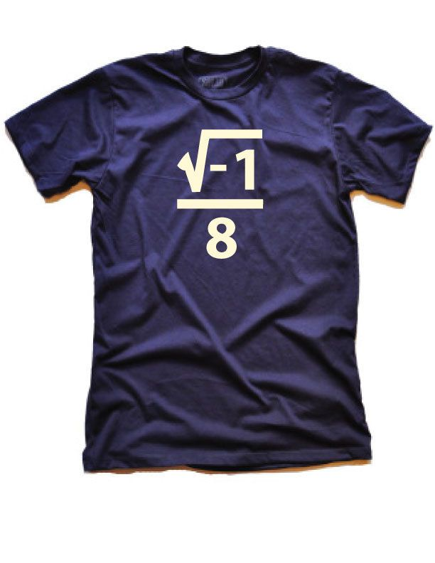I over eight...ate? Whatever. After my resident engineer explained it to me, I laughed quite a bit. Super funny Thanksgiving or Christmas math shirt!