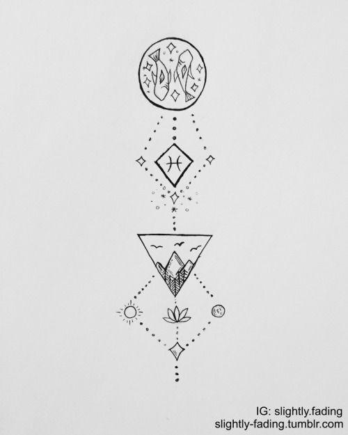 Pisces Zodiac Tattoo Ideas