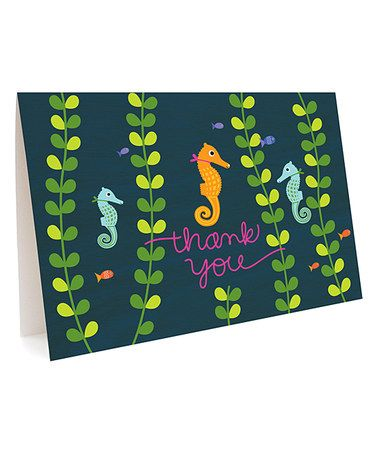 Look at this #zulilyfind! Seahorse 'Thank You' Card - Set of Six #zulilyfinds