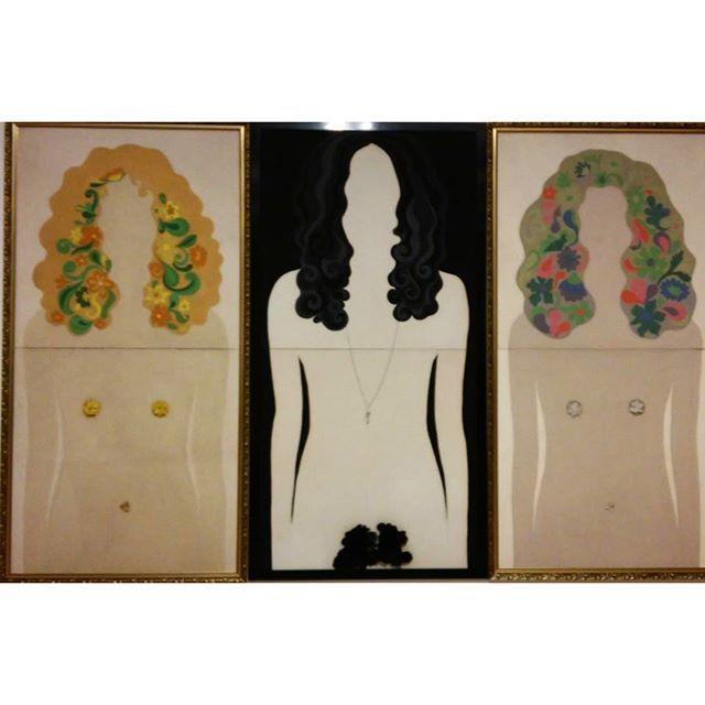 Jana ZELIBSKA: Triptych, 1969 #Budapest #ludwigmuseum #ludwigmuseumbudapest #fineart #ludwiggoespop #kunstausstellung #exhibition #slovakianartist #popart #zelibska. #triptych #nudepainting #mixedmedia #modernart #wow #womanartist #slovakianart #artmoderne #artemoderna #ig_artistry #mupa #ig_magyarorszag #ig_budapest #artlovers #museumlover #feministart #femineart