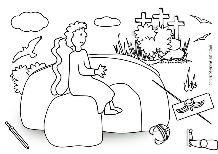 ausmalbild auferstehung ostern 1099 malvorlage alle