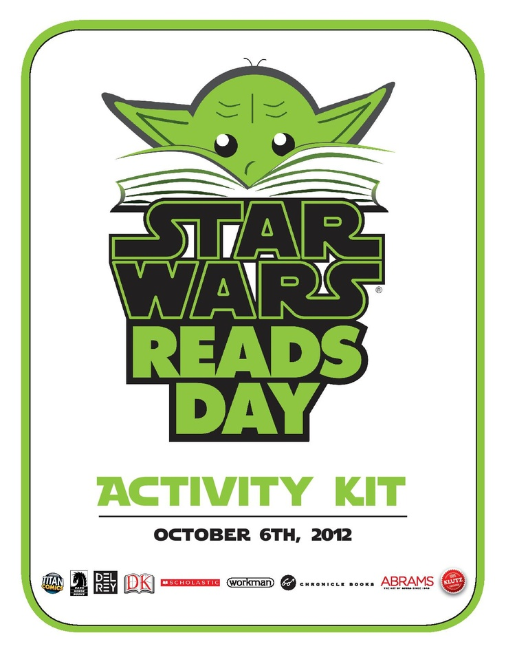 Download the Star Wars Reads Day Activity Kit! Great stuff, I've used it before and will again!