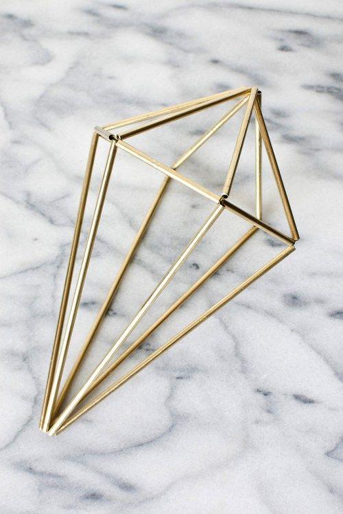 Learn how to make DIY geometric himmeli gems