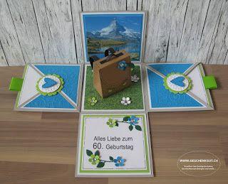 Zermatt Überraschungsbox Explosionsbox Geschenkgutschein Geldgeschenk Reise Geburtstag Rucksack Wanderferien