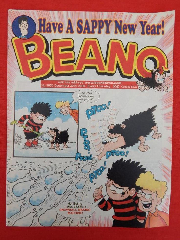 Beano Christmas/NY edition Comic 30th December 2000 - Nostalgic/retro gift - VGC