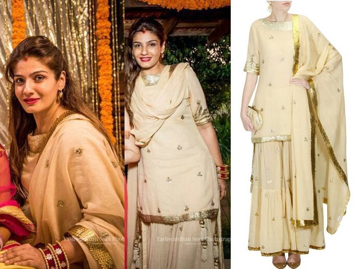 GET THIS LOOK  We love how Raveena Tandon looks gorgeous with ease and looks ethereal as always in this beautifully embroidered simple outfit by Sukriti & Aakriti.  #perniaspopupshop #sukritiandaakriti #traditional #clothing #shopnow #happyshopping