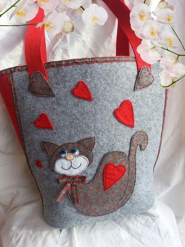 Lo♡Bag Romeo - Wacoh simpatica borsa con micione fronte retro