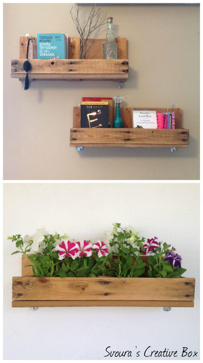 DIY: Pallet shelves! Great idea to decorate your room or your balcony!