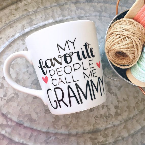 My Favorite People Call Me -Custom Mug - Mug for Grandma - Mug for Mom - Handwritten Coffee Mug, Hand Painted Mug - Personalized Coffee Mug