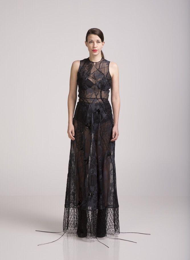 Evening dress inspired by Dario Argento's Suspiria