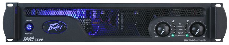 Check this out! The Peavey IPR2™ 7500 is a light weight power amp that weighs in at only 14 pounds!  3850W RMS x 1 at 2 ohms 2400W RMS x 1 at 4 ohms 1330W RMS x 1 at 8 ohms 3750W RMS x 2 at 2 ohms 2022W RMS x 2 at 4 ohms 1250W RMS x 2 at 8 ohms  HUGE output for an amp under $1000!