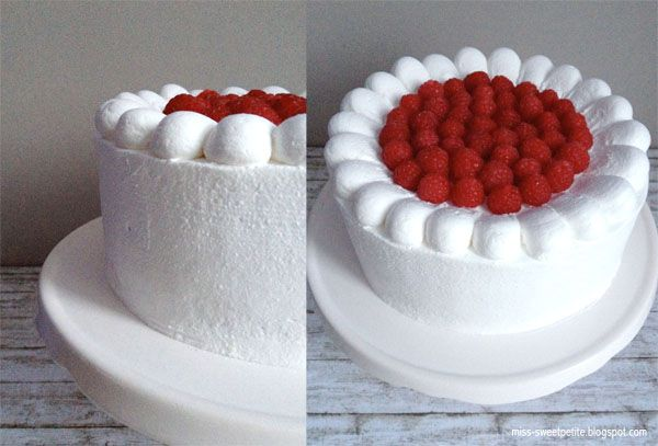 Vegan Raspberry Cake, Vegane Himbeersahnetorte