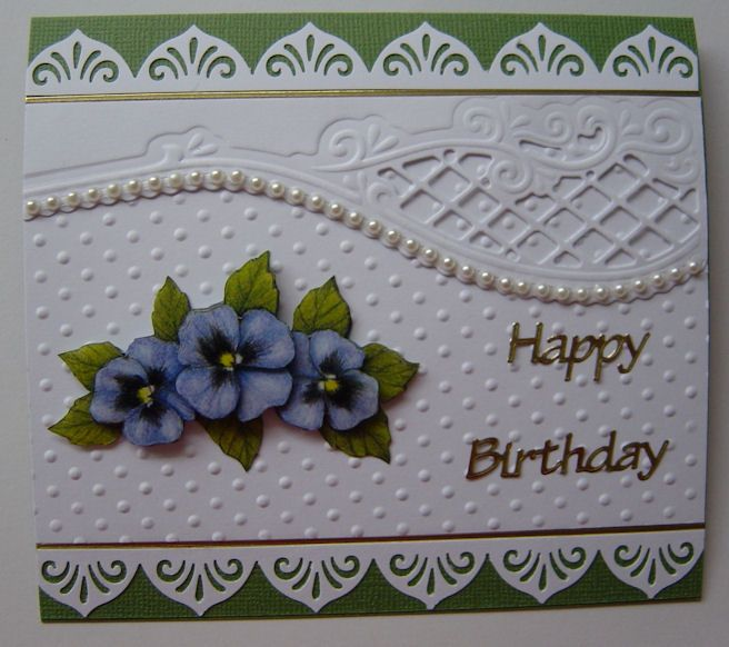 EK Success border punch, embossing folder background and Marianne Design Anja die