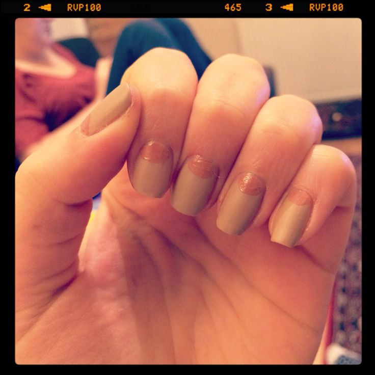 Nude matte nails :)