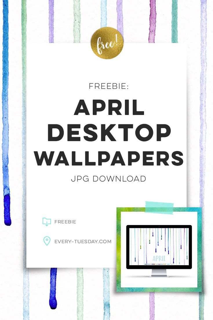 Free April Desktop Wallpapers | Jpg download in 2 common resolutions! via @teelac