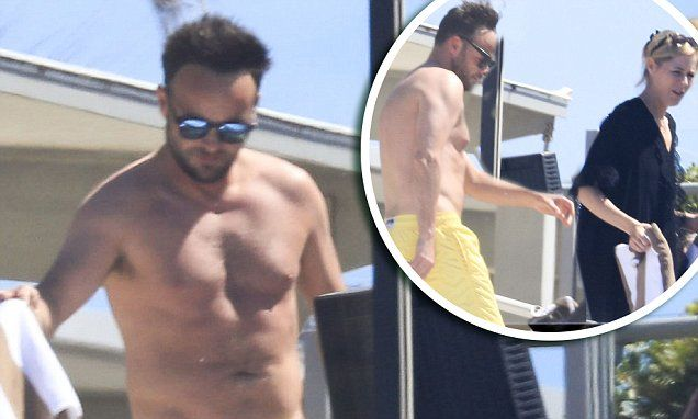 Ant McPartlin relaxes with sidekick Dec's wife Ali Astall in Australia