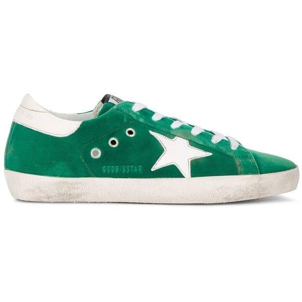 Golden Goose Green Superstar Sneakers