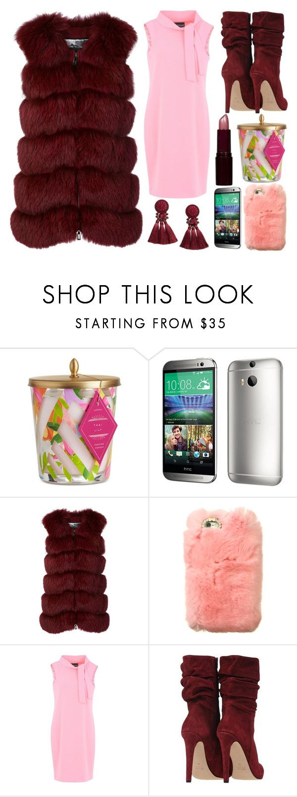 """""""Shop Jeen Furry Iphone Case"""" by ann-kelley14 ❤ liked on Polyvore featuring Illume, HTC, Cara Mila, Boutique Moschino and Rimmel"""