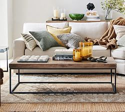 Fargo Round Coffee Table, Natural Brown/Patina Copper