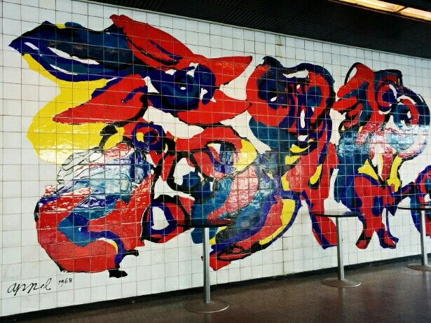 Karel Appel, 1968. Mural on tiles @ World Forum, The Hague