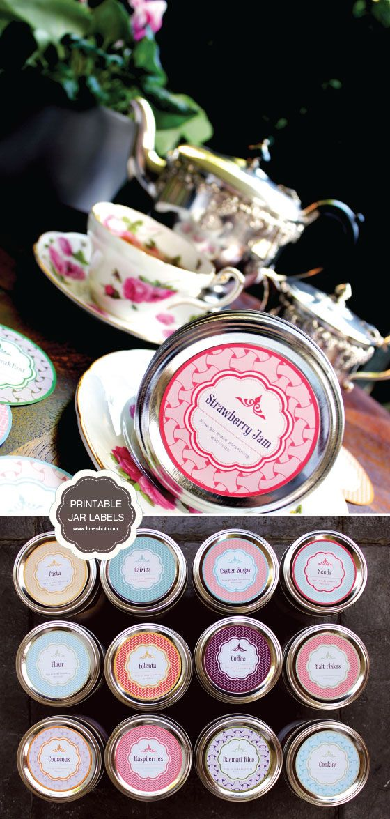Free Printable Mason Jar Labels -  This is really a great collection of Pantry labels.