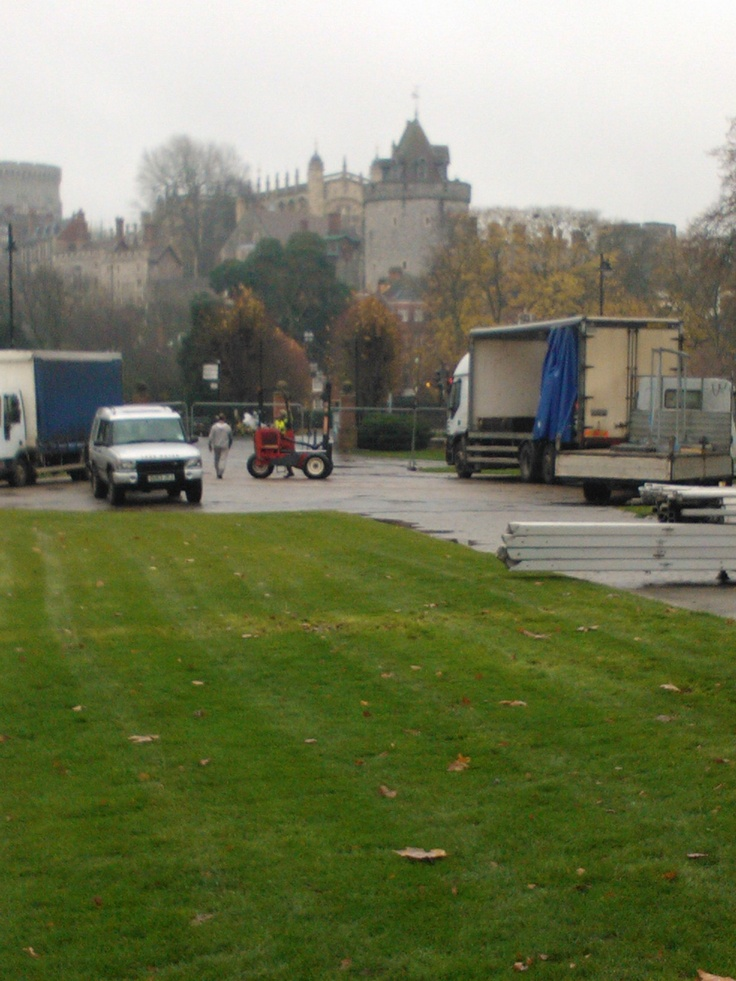 Windosr On Ice Preparations (2012) ... Marquee framework arrived this morning at Alexandra Gardens!