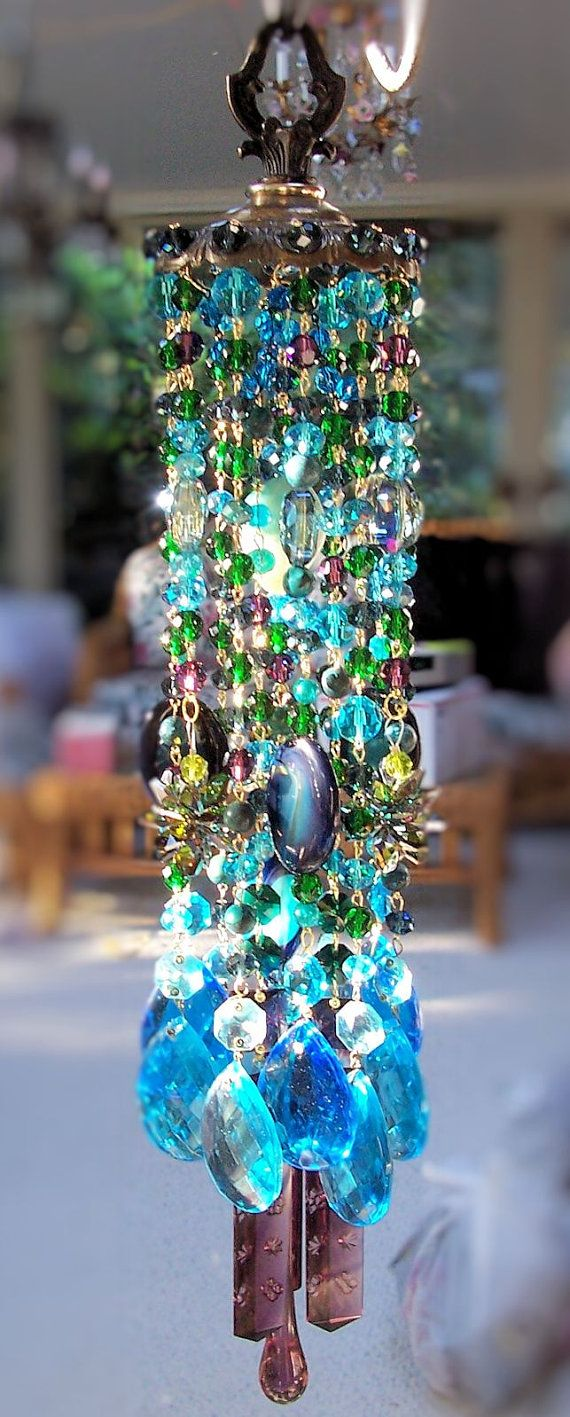 Midsummer's Magic Vintage Crystal Wind Chime by sheriscrystals