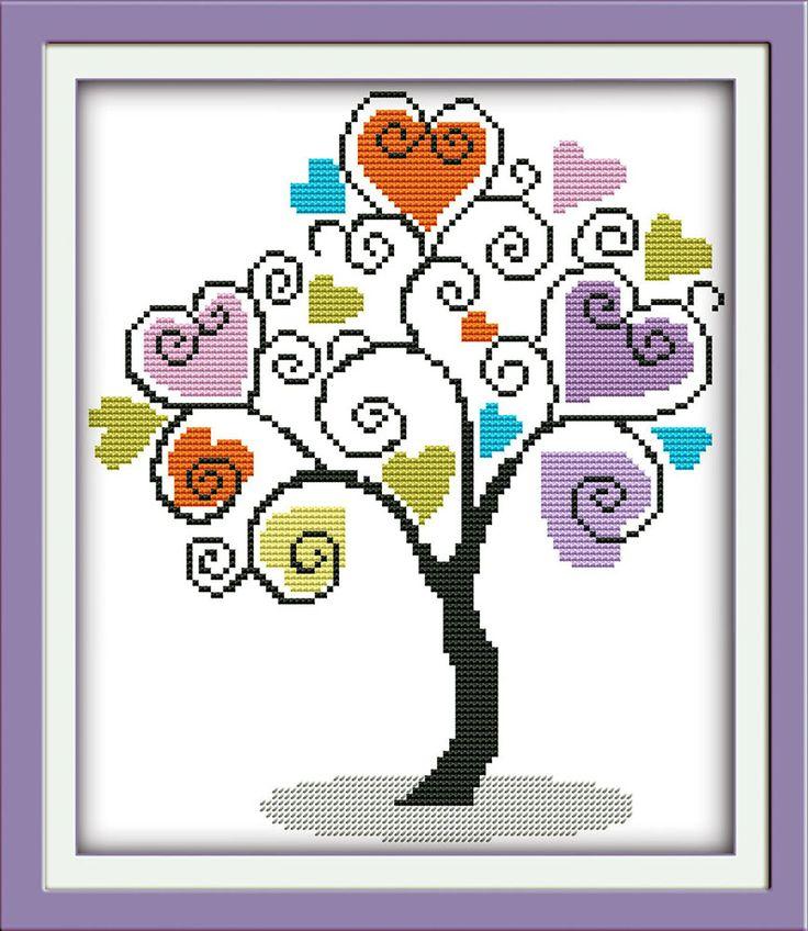 Gioia-Domenica-stile-di-vita-Il-giving-tree-cuore-schemi-punto-croce-set-da-ricamo-accessori.jpg (867×1000)