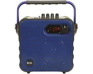 QTX QX05PA Ciekawa propozycja na nagłośnienie spotkania przyjaciół w plenerze. Muzyka z bluetooth i mikrofon bezprzewodowy do karaoke w zestawie.