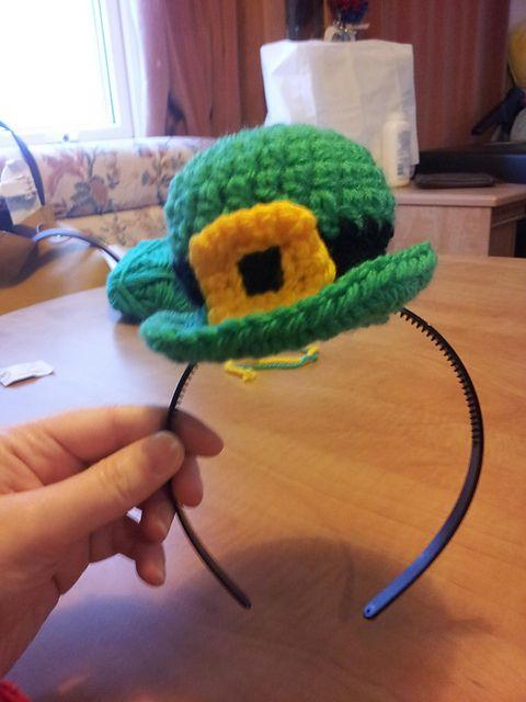 Crochet St. Patricks Day Fascinator Free Pattern