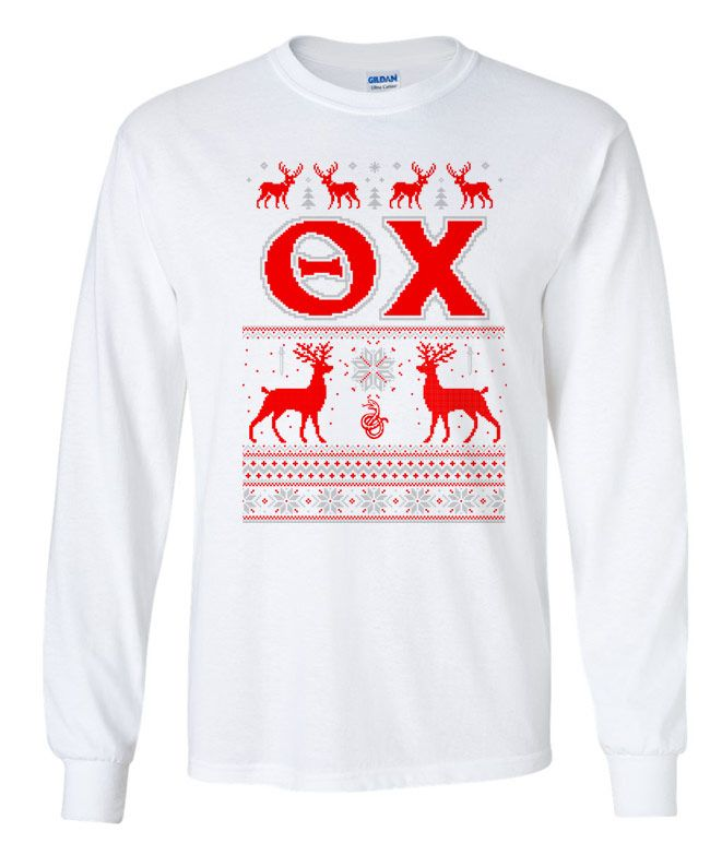 Theta Chi Ugly Christmas Sweater Long Sleeve T-Shirt