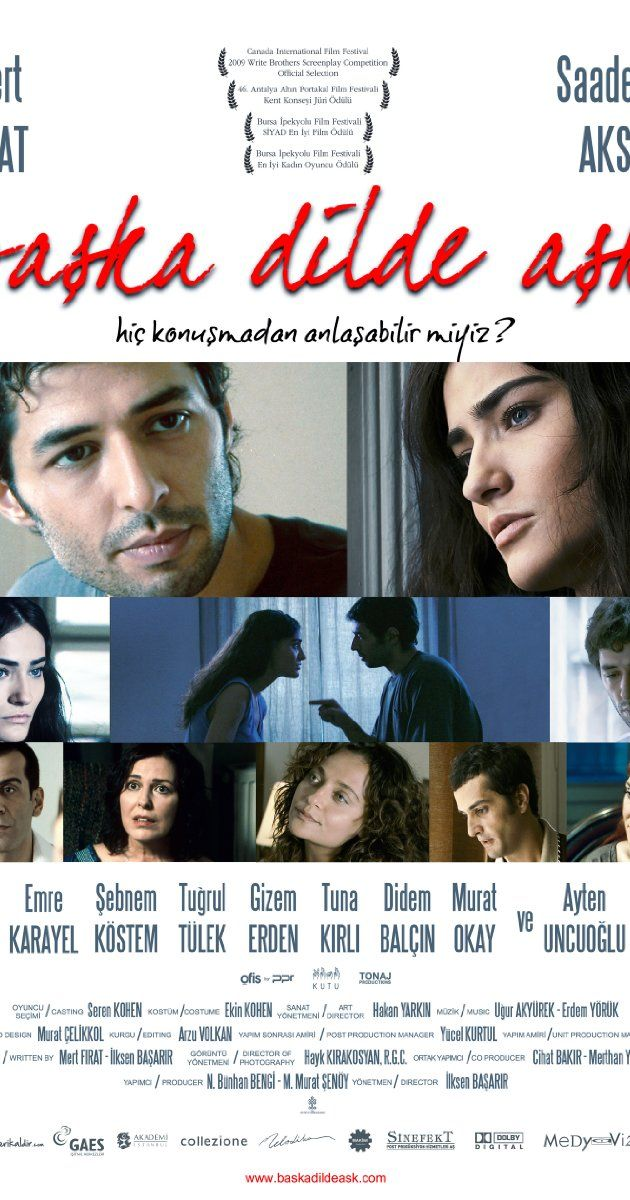 Directed by Ilksen Basarir. With Mert Firat, Saadet Aksoy, Emre Karayel, Lale Mansur. Onur, who has been deaf since birth, works as a librarian. His father had left him and his mother when he was seven, and Onur has always blamed himself for this. Although being able to speak, he has chosen to stay silent because of the pitying looks of the people around him. At his friend Vedat's engagement party, he meets Zeynep, who later finds out about Onur's hearing disability, but is not ...
