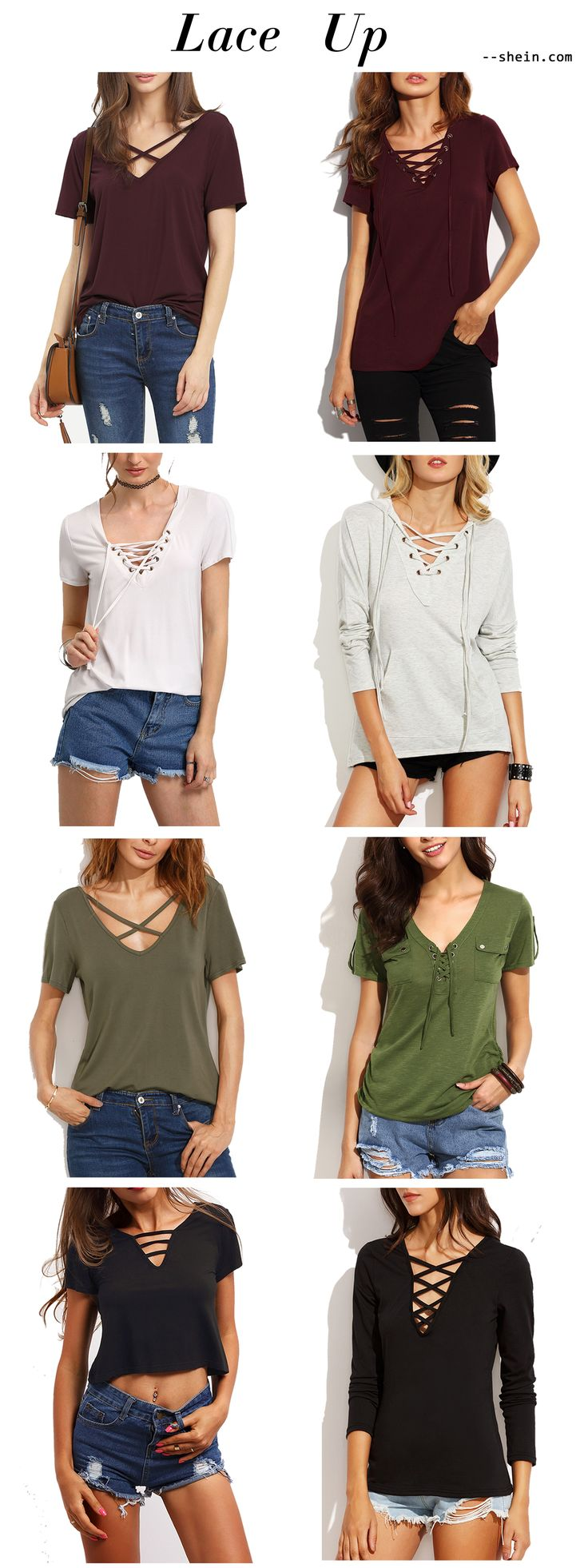 My favorite lace up top here by Shein. For me, casual chic & sexy style is a must!