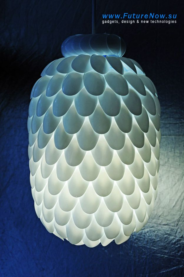 Cool DIY Ideas for Fun and Easy Crafts - DIY Plastic Spoon Light Fixture - Cheap DIY Lighting Ideas and Easy Homemade Pendant Light- Awesome Pinterest DIYs that Are Not Impossible To Make - Creative Do It Yourself Craft Projects for Adults, Teens and Tweens. http://diyprojectsforteens.com/fun-crafts-pinterest