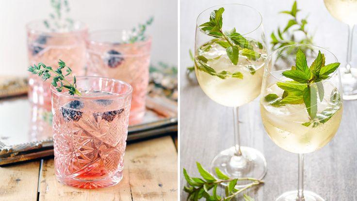 Mousserande vin är en perfekt drinkingrediens, speciellt på våren och sommaren.