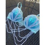 Blue Dream Mermaid Bra Made to Order in Any Size