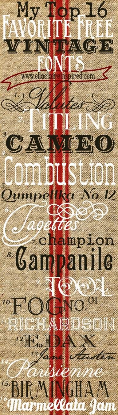 favorite vintage fonts